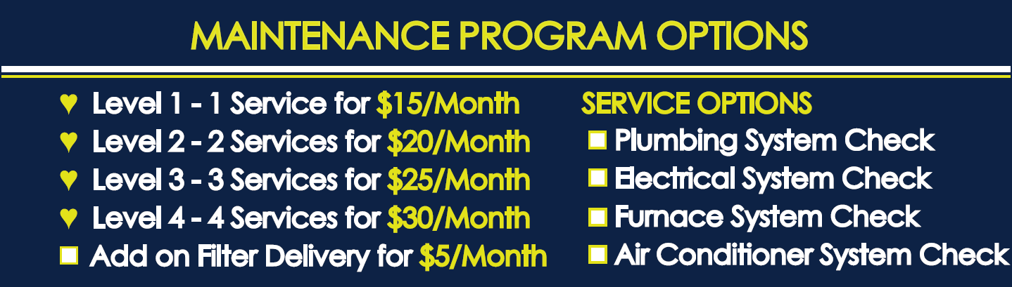 Maintenance Program Options